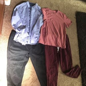 Men's Arizona Joggers and Shirts-2 Outfits